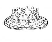 Coloriage galette des rois et la couronne dessin