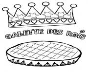 galette des rois janvier dessin à colorier