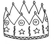 Coloriage galette des rois en janvier dessin