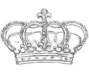 Coloriage couronne des rois royal crown