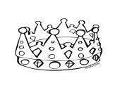 Coloriage couronne des rois simple