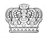 couronne des rois 3 dessin à colorier