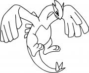 coloriage pokemon legendaire lugia