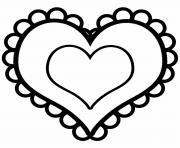 coeur saint valentin 15 dessin à colorier
