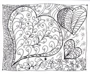 Coloriage amour adulte coeur zen