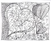 amour adulte coeur zen dessin à colorier