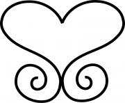 coeur 8 dessin à colorier