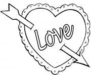 coeur saint valentin 116 dessin à colorier