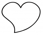 coeur saint valentin 13 dessin à colorier