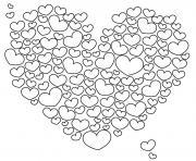 coeur 77 dessin à colorier