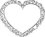 coeur saint valentin 29 dessin à colorier