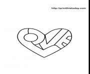 Coloriage coeur amour 31