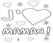 coeur maman dessin à colorier