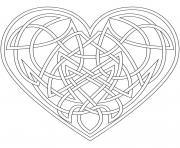coeur saint valentin 128 dessin à colorier