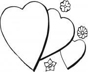 coeur 61 dessin à colorier