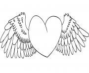 coeur 70 dessin à colorier