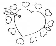 Coloriage coeur amour 38