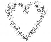 coeur saint valentin 148 dessin à colorier