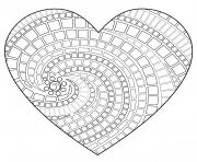 coeur saint valentin 149 dessin à colorier