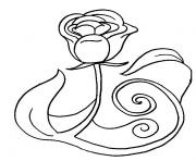 rose et coeur 121 dessin à colorier