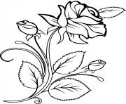 rose et coeur 23 dessin à colorier