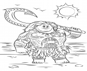 Coloriage maui from moana vaiana