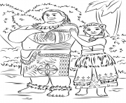 tui and sina de vaiana moana film dessin à colorier