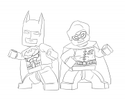 Coloriage batman and robin lego
