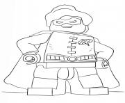 lego batman robin dessin à colorier