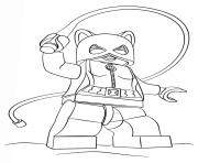 lego catwoman batman dessin à colorier