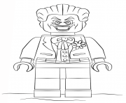 Coloriage lego joker batman