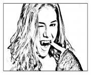 chica vampiro daisy tape la pose dessin à colorier