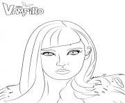 Catalina ennemie de daisy chica vampiro dessin à colorier