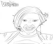Zaira Fangoria amie vampire de daisy chica vampiro dessin à colorier