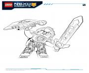 Coloriage Lego Nexo Knights Clay 1