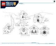 Lego Nexo Knights Monster Productss 6 dessin à colorier
