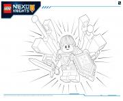 Lego Nexo Knights Ultimate Knights 4 dessin à colorier