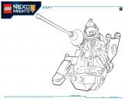 Coloriage Lego Nexo Knights Lance 1