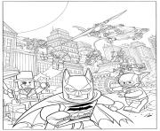 Coloriage lego batman fash action movie 2017