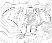 Coloriage lego batman fly