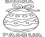 buona pasqua dessin à colorier