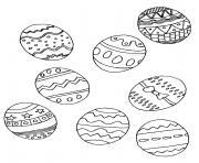 oeufs de paques selection dessin à colorier