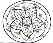 Coloriage paques mandala antistress adulte 2