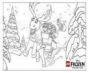 Coloriage la reine des neiges frozen lego disney