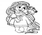 Coloriage bebe raiponce princesse disney cute