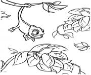 raiponce pascal entrain de samuser dessin à colorier