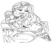 le prince de raiponce est malade dessin à colorier