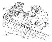 son prince flynn lui offre un sac a main raiponce disney dessin à colorier