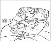 le bisou de raiponce et flynn son prince amoureux dessin à colorier