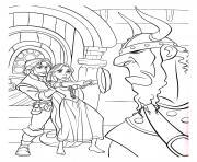 raiponce est courageuse flynn poele dessin à colorier